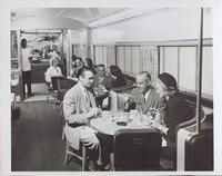 Pullman car: coffee shop and dining area