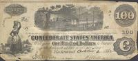 One hundred dollar bill of the Confederate States of America, 1862