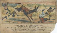 Runge & Schacht Wine and Lunch Room trade card