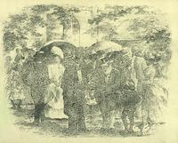 Park scene of well dressed freedmen