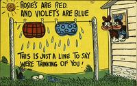 Rosie's are red. And Violet's are blue...