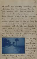 Letter with applied photographs describing Daytona (9)