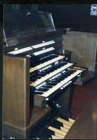 Allen organ in brick church, c. 1986