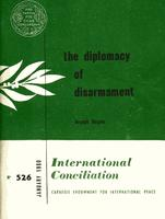 The diplomacy of disarmament