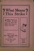 ? What means this strike?