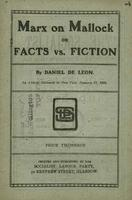 Marx on Mallock, or, Facts vs. fiction