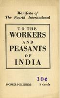 Manifesto of the Fourth International to the workers and peasants of India.
