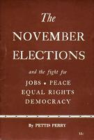 The November elections and the struggle for jobs, peace, equal rights and democracy