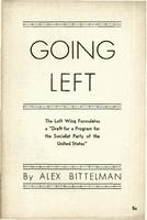 Going left: The Left wing formulates a draft for a program for the Socialist party of the United States