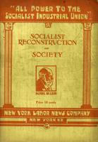 Socialist reconstruction of society: Address delivered at Union Temple, Minneapolis, Minnesota, July 10, 1905