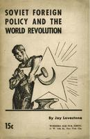 Soviet foreign policy and the world revolution