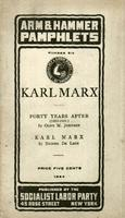 Karl Marx: Forty years after (1883-1923)