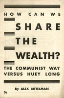 How can we share the wealth?: The communist way versus Huey Long