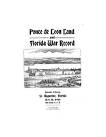 Ponce de Leon land and Florida war record (title)
