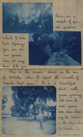 Letter with applied photographs describing Daytona (23)